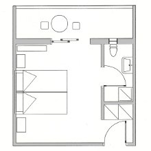 Koala hotel Double room plan