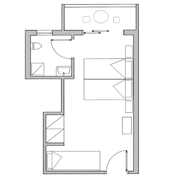 Koala hotel triple room plan